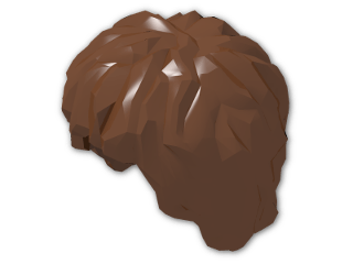 LEGO® Stein: Minifig Hair Tousled (10048) | Farbe: Reddish Brown