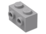 LEGO® Brick: Brick 1 x 2 with Two Studs on One Side (11211) | Color: Medium Stone Grey