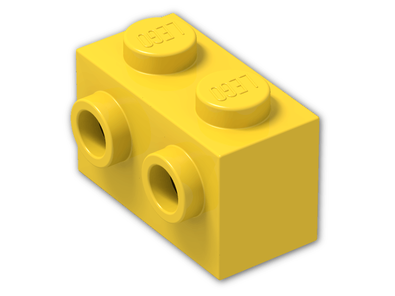 LEGOR Brick 1 X 2 With Two Studs On One Side 11211