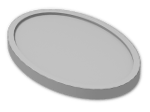 LEGO® Brick: Minifig Tray Oval (11252) | Color: Silver