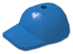 LEGO® Stein: Minifig Cap with Short Arched Peak with Seams and Top Pin Hole (11303) | Farbe: Bright Blue