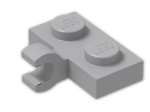 LEGO® Stein: Plate 1 x 2 with Clip Horizontal on Side (Thick C-Clip) (11476) | Farbe: Medium Stone Grey