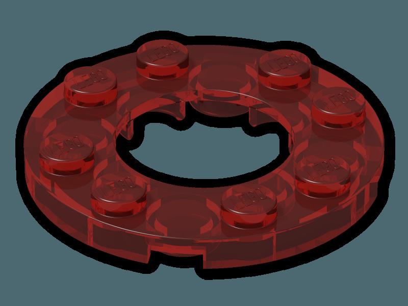 LEGO   12 Bauplatten 11833 in transparent klar 4x4 mit einem Ø 16 mm Loch  NEU