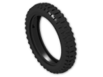 LEGO® Brick: Tyre 19/ 67 x 75 Motorcycle with Motocross Tread (11957) | Color: Black
