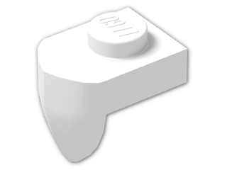 LEGO® Brick: Plate 1 x 1 with Tooth Perpendicular (15070) | Color: White