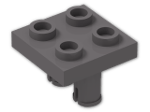 LEGO® Brick: Plate 2 x 2 with 2 Pins (15092) | Color: Dark Stone Grey