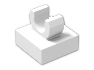 LEGO® Brick: Tile 1 x 1 with Clip (Thick C-Clip) (15712) | Color: White