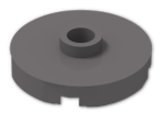 LEGO® Brick: Plate 2 x 2 Round with 1 Centre Stud (18674) | Color: Dark Stone Grey