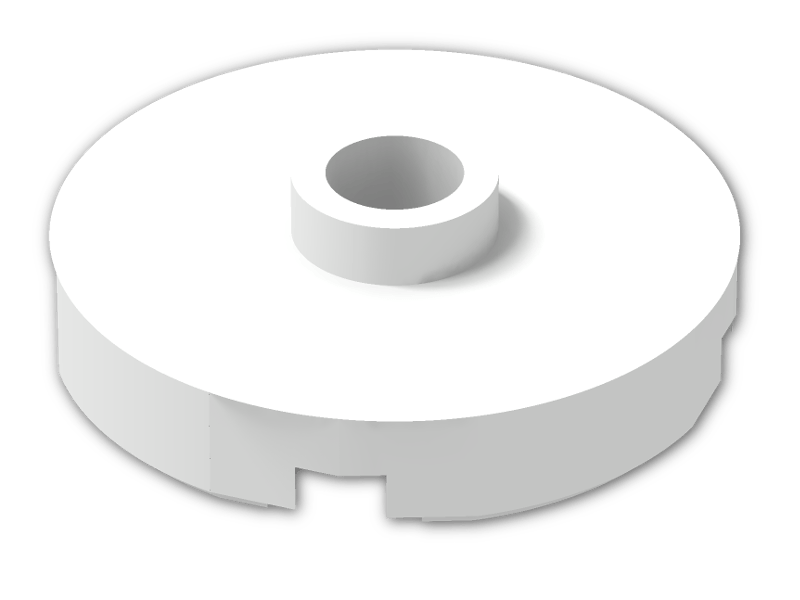 part no 4032 Plate 2 x 2 Round in White 6x Lego