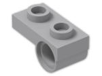 LEGO® Stein: Plate 1 x 2 with Offset Peghole on Underside (18677) | Farbe: Medium Stone Grey
