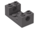 LEGO® Stein: Plate 2 x 4 with Side Bricks 1 x 2 x 1.333 with Hole (18975) | Farbe: Dark Stone Grey