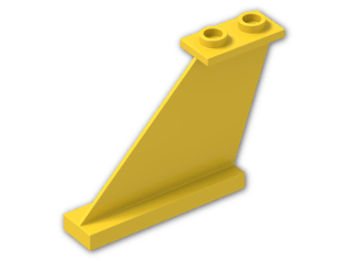 LEGO® Brick: Tail 4 x 1 x 3 (2340) | Color: Bright Yellow