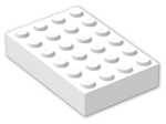 LEGO® Brick: Brick 4 x 6 (2356) | Color: White