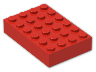 LEGO® Brick: Brick 4 x 6 (2356) | Color: Bright Red