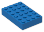 LEGO® Brick: Brick 4 x 6 (2356) | Color: Bright Blue