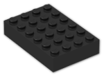 LEGO® Brick: Brick 4 x 6 (2356) | Color: Black