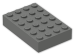 LEGO® Brick: Brick 4 x 6 (2356) | Color: Dark Grey