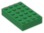 LEGO® Brick: Brick 4 x 6 (2356) | Color: Dark Green