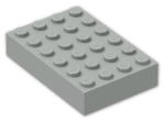 LEGO® Brick: Brick 4 x 6 (2356) | Color: Grey