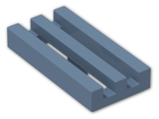 LEGO® Brick: Tile 1 x 2 Grille with Groove (2412b) | Color: Sand Blue