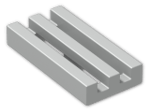 LEGO® Brick: Tile 1 x 2 Grille with Groove (2412b) | Color: Silver flip/flop