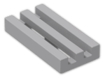 LEGO® Brick: Tile 1 x 2 Grille with Groove (2412b) | Color: Medium Stone Grey