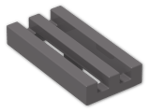 LEGO® Brick: Tile 1 x 2 Grille with Groove (2412b) | Color: Dark Stone Grey