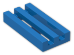 LEGO® Brick: Tile 1 x 2 Grille with Groove (2412b) | Color: Bright Blue