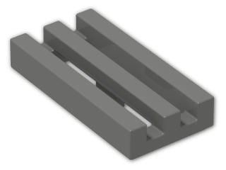 LEGO® Brick: Tile 1 x 2 Grille with Groove (2412b) | Color: Dark Grey