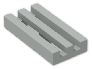LEGO® Brick: Tile 1 x 2 Grille with Groove (2412b) | Color: Grey
