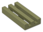 LEGO® Brick: Tile 1 x 2 Grille with Groove (2412b) | Color: Olive Green