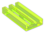 LEGO® Brick: Tile 1 x 2 Grille with Groove (2412b) | Color: Transparent Fluorescent Green