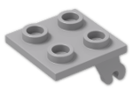 LEGO® Stein: Plate 2 x 2 with Wheel Holder Plane (2415) | Farbe: Medium Stone Grey