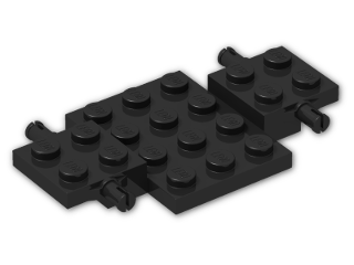 LEGO® Brick: Car Base 7 x 4 x 0.667 (2441) | Color: Black