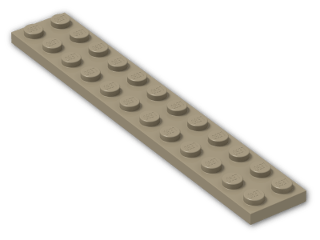 LEGO® Brick: Plate 2 x 12 (2445) | Color: Sand Yellow