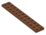 LEGO® Stein: Plate 2 x 12 (2445) | Farbe: Reddish Brown