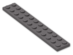 LEGO® Brick: Plate 2 x 12 (2445) | Color: Dark Stone Grey