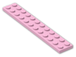 LEGO® Stein: Plate 2 x 12 (2445) | Farbe: Light Purple
