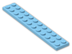 LEGO® Brick: Plate 2 x 12 (2445) | Color: Dove Blue