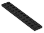 LEGO® Brick: Plate 2 x 12 (2445) | Color: Black