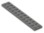 LEGO® Brick: Plate 2 x 12 (2445) | Color: Dark Grey