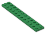 LEGO® Brick: Plate 2 x 12 (2445) | Color: Dark Green