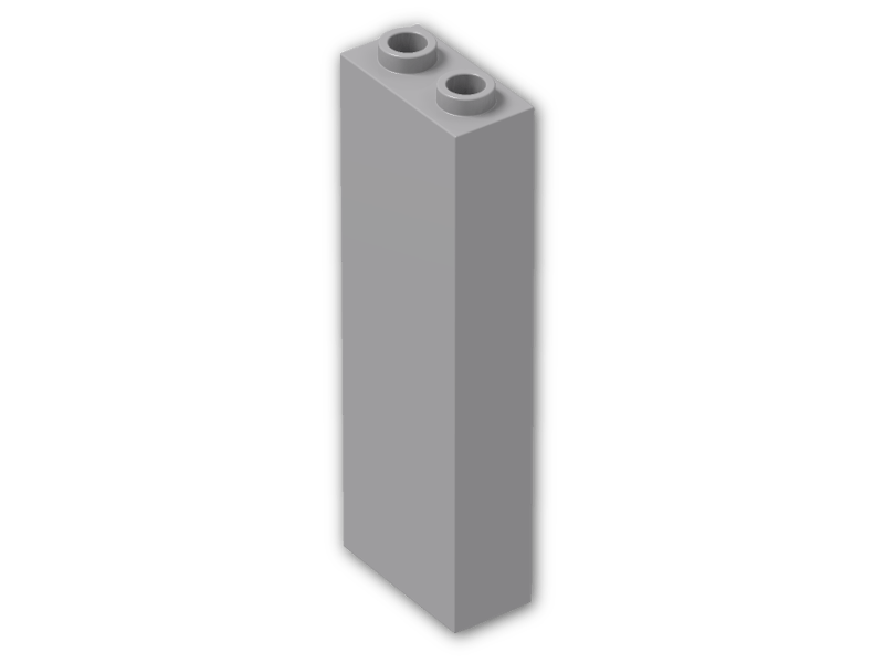 1x2x5 Black Column Lego Bricks 4 NEW Parts