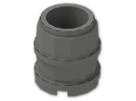 LEGO® Stein: Barrel 2 x 2 x 1.667 (2489) | Farbe: Dark Grey