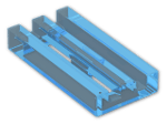 LEGO® Brick: Tile 1 x 2 Grille with Groove (2412b) | Color: Transparent Fluorescent Blue