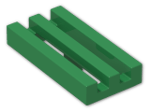 LEGO® Brick: Tile 1 x 2 Grille with Groove (2412b) | Color: Dark Green