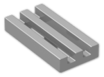 LEGO® Brick: Tile 1 x 2 Grille with Groove (2412b) | Color: Silver Metallic