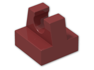 LEGO® Brick: Tile 1 x 1 with Clip (2555) | Color: New Dark Red