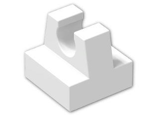 LEGO® Brick: Tile 1 x 1 with Clip (2555) | Color: White