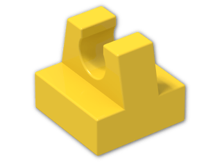LEGO® Brick: Tile 1 x 1 with Clip (2555) | Color: Bright Yellow